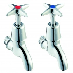Methven Deva Cross Handle Brass Chrome Tap Range