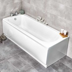 Kartell New Life UK Made Heavy Duty Straight Acrylic Bath 1700mm x 700mm