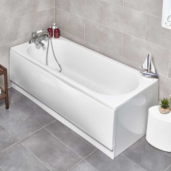 Kartell Revive UK Made Heavy Duty Straight Acrylic Bath Single Ended
