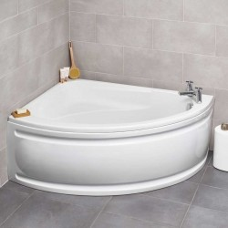 Kartell Formula UK Made Heavy Duty Offset Acrylic Corner Bath