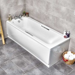 Kartell Alpha UK Made Heavy Duty Straight Acrylic Bath