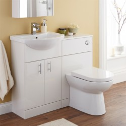 Kartell Jubilee WC Unit With Concealed Cistern 500mm W White