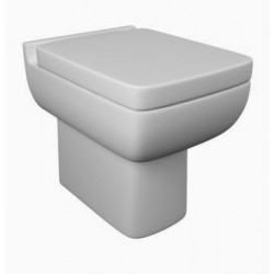 Kartell Options 600 Ceramic Back To Wall Toilet WC Pan With Soft-Close Seat