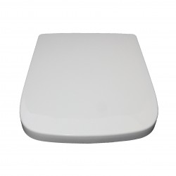 Square Shape White Soft Close Quick Release Kartell Toilet Seat Bottom Fix with Fittings