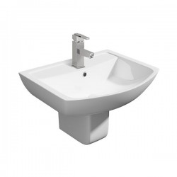 Kartell Pure Ceramic Semi Pedestal With Basin 550mm
