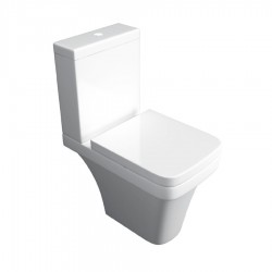 Kartell Sicily Ceramic Close Coupled Toilet WC Pan Comfort Height With Cistern And Soft-Close Seat