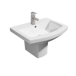 Kartell Trim Ceramic Semi Pedestal With Basin 550mm