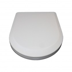 D-Shaped White Soft Close Quick Release Kartell Toilet Seat Top Fix with Fittings