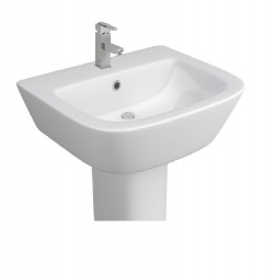 Kartell Project Ceramic Semi Pedestal With Basin 530mm