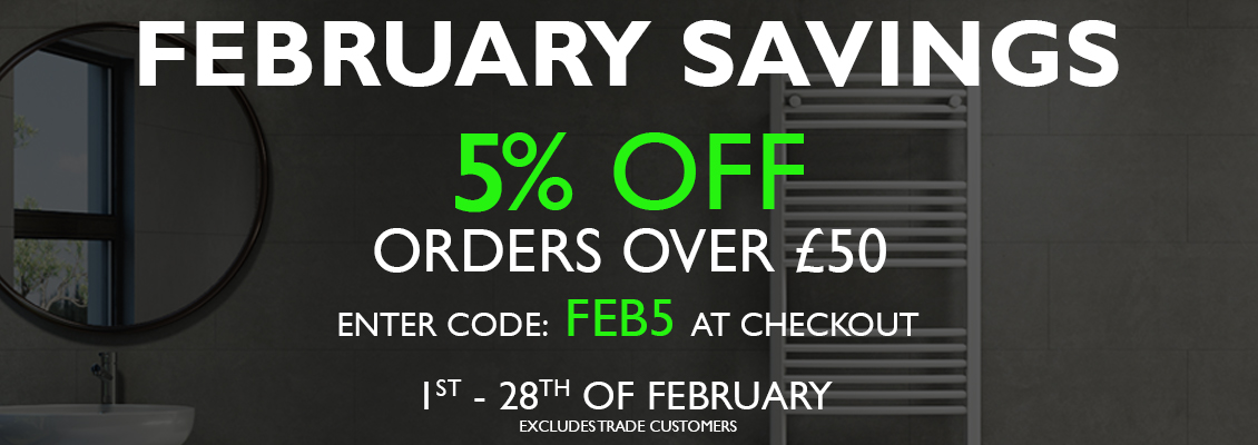 5% off orders over £50. Code: FEB5