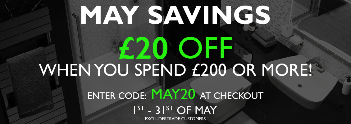 £20 when you spend £200 or more. Code: MAY20